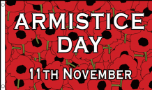 Armistice Day November 11th Poppy 5'x3' (150cm x 90cm) Flag